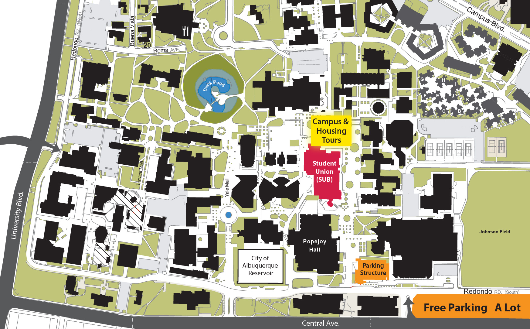 home  fall preview   university of new mexico - main campus parking map