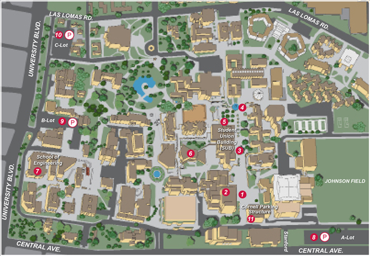 Unm Parking Map Senior Day 2018 | Map and Parking Unm Parking Map